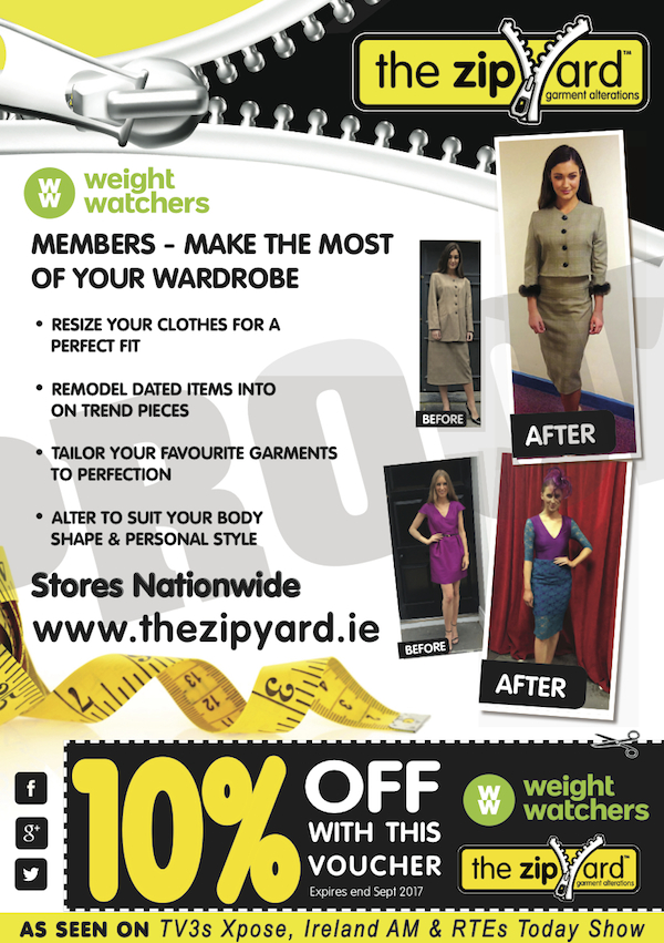 The ZipYard 2017 - WeightWatchers 10% off