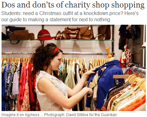 dos and donts of charity shop shopping
