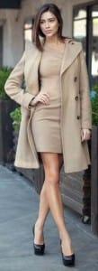 Camel dress & coat combo