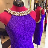 Purple Debs Dress