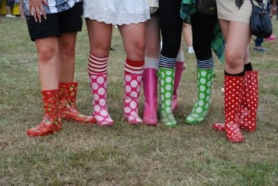 The Zip Yard festival-wellies