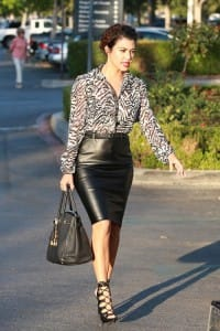 Kourtney-Kardashian-Calabasas-Kardashian-Kollection-print-blouse-and-skirt