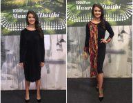 Contrast Pattern Dress
